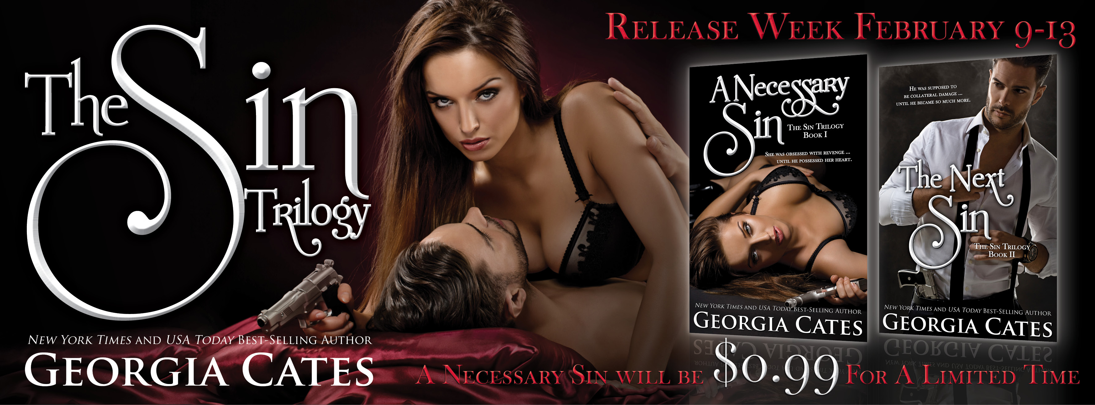 $50 GC Giveaway and Release Day Launch: The Next Sin by Georgia Cates