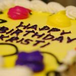 Birthday cake for Kristi