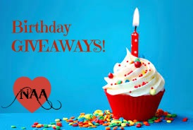 Happy Birthday GIVEAWAYS on our Facebook page!