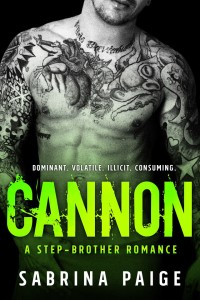 Cover Reveal: Cannon: A Stepbrother Romance by Sabrina Paige