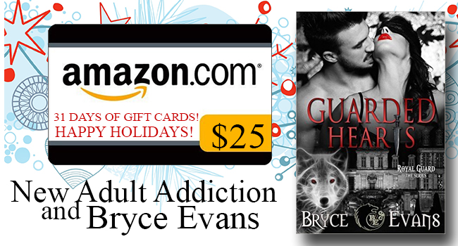 $25 GIVEAWAY- Guarded Hearts by Bryce Evans