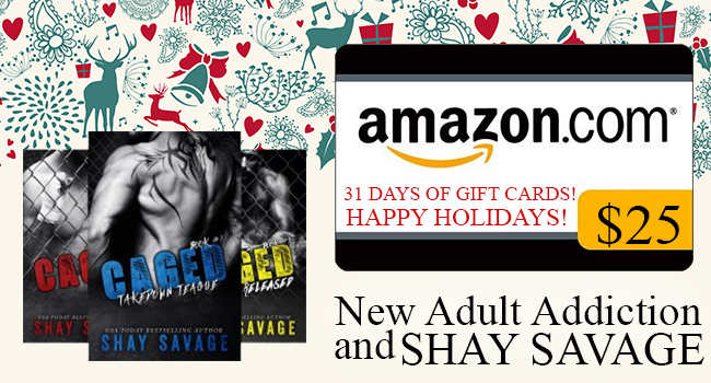 $25 GIVEAWAY- Caged (3 Book Series) by Shay Savage