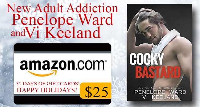 $25 GIVEAWAY – Cocky Bastard by Penelope Ward & Vi Keeland