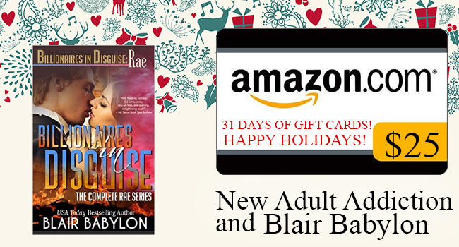 $25 GIVEAWAY-Billionaires in Disguise: Rae Complete Series Boxed Set By: Blair Babylon