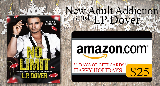 $25, No Limit Paperback, signed swag pack and a custom made neckalce GIVEAWAY-No Limit by LP Dover
