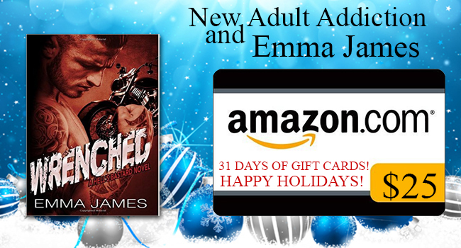 $25 GIVEAWAY- Wrenched by Emma James