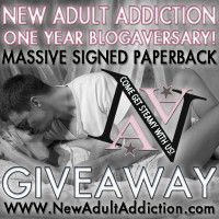 NEW ADULT ADDICTION BLOGAVERSARY GIVEAWAY DAY ONE!