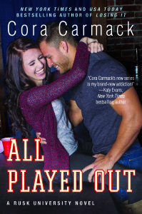 GIVEAWAY & Happy Release Day— All Played Out by Cora Carmack